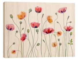 Holzbild  Poppy Party - Mandy Disher