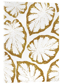 Acrylglasbild  Monstera Gold - Uma 83 Oranges
