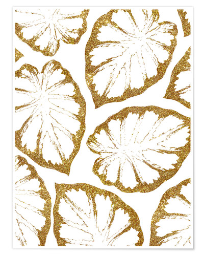 Premium-Poster Monstera Gold