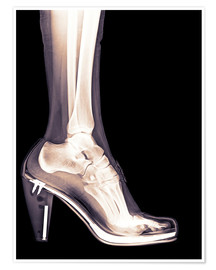 Premium-Poster high heel shoe X-ray