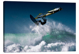 Leinwandbild  Windsurfer in der Luft - Ben Welsh