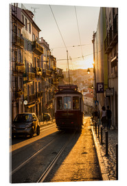 Acrylglasbild  Tram in Lisbon, Portugal - Alex Treadway