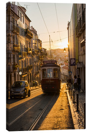 Leinwandbild  Tram in Lisbon, Portugal - Alex Treadway