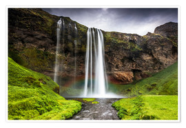Premium-Poster  Seljalandsfoss Wasserfall - Andrew Sproule