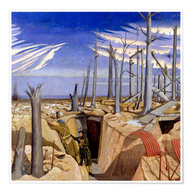 Poster  Oppy Wood, Abend - Paul Nash