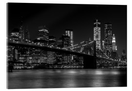 Acrylglasbild  Brooklyn Bridge bei Nacht - Thomas Klinder