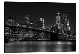 Alubild  Brooklyn Bridge bei Nacht - Thomas Klinder