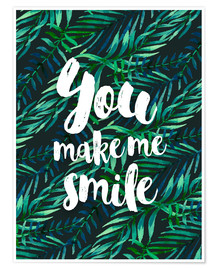 Premium-Poster  You make me smile - dear dear