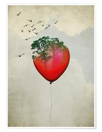 Poster Red balloon