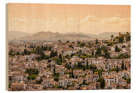 Holzbild  Granada, Andalusia, Spain - Frank Fischbach