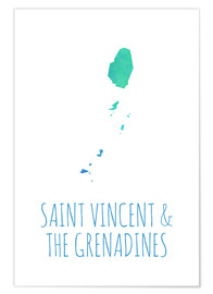 Premium-Poster Saint Vincent & the Grenadines