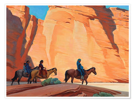 Poster Navajos in einem Canyon