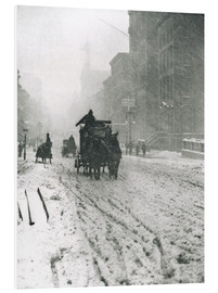 Hartschaumbild  Winter - Fifth Avenue - Alfred Stieglitz