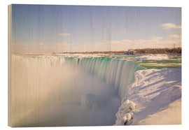 Holzbild  Die Winter in Niagara Falls - Mike Clegg Photography