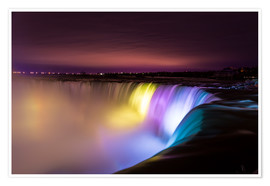Premium-Poster  Niagara Falls in der Nacht - Mike Clegg Photography