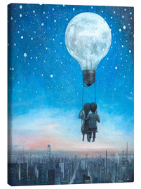 Leinwandbild  our love will light the night - Adrian Borda