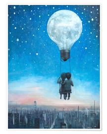 Premium-Poster  our love will light the night - Adrian Borda