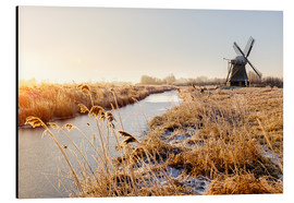 Alubild  Windmill near Sande at cold winter morning - Reemt Peters-Hein