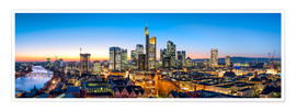 Premium-Poster  Skyline Panorama von Frankfurt am Main - Jan Christopher Becke