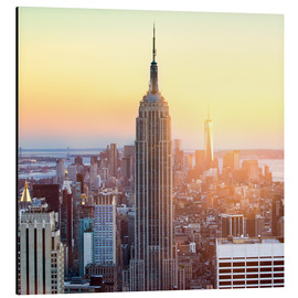Alubild  Empire State Building in New York City bei Sonnenuntergang - Jan Christopher Becke