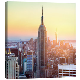 Leinwandbild  Empire State Building in New York City bei Sonnenuntergang - Jan Christopher Becke