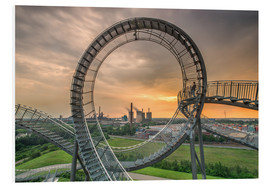 Hartschaumbild  Tiger & Turtle Duisburg Magic Mountain - Dennis Stracke