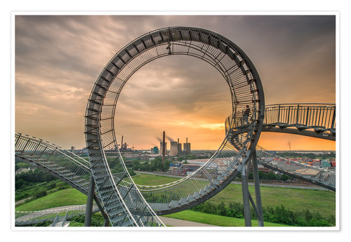 Premium-Poster Tiger & Turtle Duisburg Magic Mountain