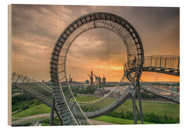 Holzbild  Tiger & Turtle Duisburg Magic Mountain - Dennis Stracke