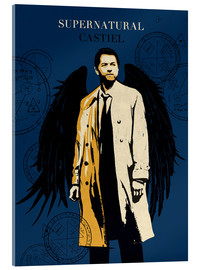Acrylglasbild  Castiel, Supernatural - Golden Planet Prints