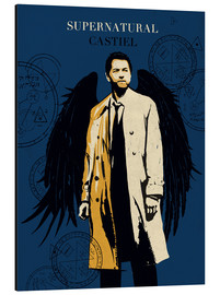 Alubild  Castiel, Supernatural - Golden Planet Prints