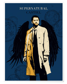 Premium-Poster Alternative Castiel Supernatural art print