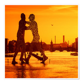 Premium-Poster Berlin - Sunset Skyline I