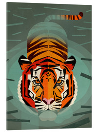 Acrylglas  Swimming Tiger - Dieter Braun