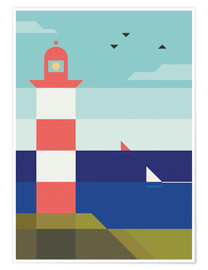 Premium-Poster  Lighthouse - Antony Squizzato