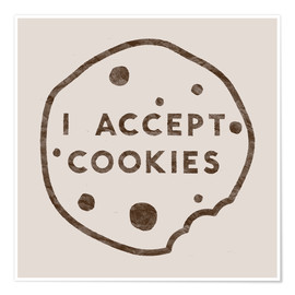 Poster I accept cookies