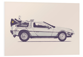 Hartschaumbild  Delorean - Florent Bodart