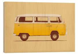 Holzbild  Yellow Van - Florent Bodart