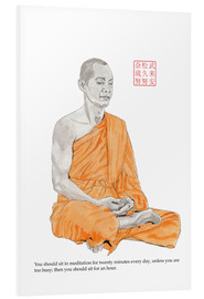 Hartschaumbild  Buddha - Meditation - Bryan James
