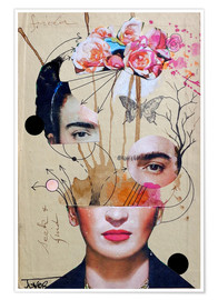 Poster  frida for beginners - Loui Jover