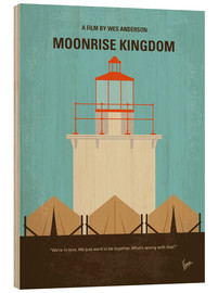 Holzbild  No760 My Moonrise Kingdom minimal movie poster - chungkong