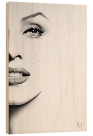 Holzbild  Marilyn Monroe - Ileana Hunter