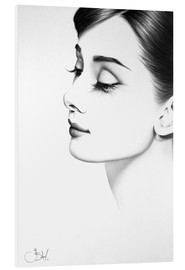 Hartschaumbild  Audrey Hepburn No. 2 - Ileana Hunter