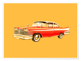 Premium-Poster  Vintage Car Illustration - dear dear