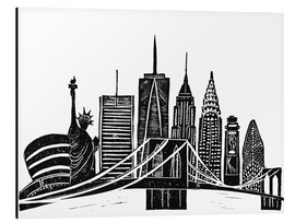 Alubild  LINOCUT NEW YORK - Bianca Green