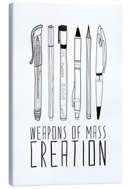 Leinwandbild  Weapons Of Mass Creation - Bianca Green