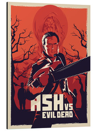 Alu-Dibond  Ash Vs the evil dead - Fourteenlab