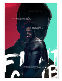 Premium-Poster  Fight Club (Englisch) - Fourteenlab