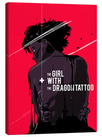 Leinwandbild  The Girl with The Dragon Tattoo - Fourteenlab