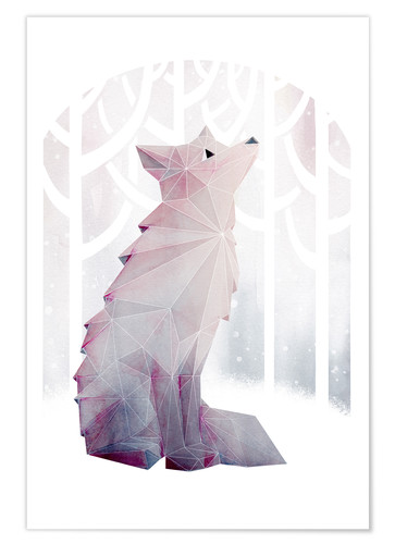 Premium-Poster Fox In The Snow