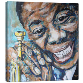 Leinwandbild  What a Wonderful World, Louis Armstrong - Christel Roelandt